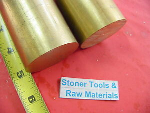 2 Pieces 2 C360 Brass Round Rod 5 Long Solid 2 00 Od H02 New Lathe Bar Stock