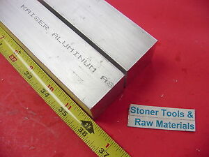 2 Pieces 1 1 2 x 1 1 2 Aluminum 6061 Square Bar 36 Long T6511 Flat Solid Stock