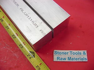 2 Pieces 1 1 2 x 1 1 2 Aluminum 6061 Square Bar 24 Long T6511 Flat Solid Stock