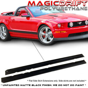 05 14 Ford Mustang V6 V8 Gt Mdp Style Side Skirt Rocker Extensions Splitters Lip