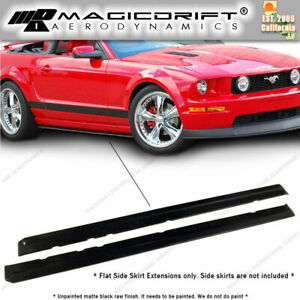 05 06 07 08 09 Ford Mustang Mdp Style Side Skirt Rocker Extensions Splitters Lip