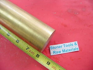 2 C360 Brass Round Rod 8 Long Solid 2 00 Od X 8 0 H02 Lathe Bar Stock