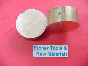 2 Pieces 2 C360 Brass Round Rod 1 Long Solid 2 00 Od H02 Lathe Bar Stock