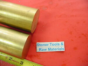 2 Pieces 2 C360 Brass Round Rod 3 Long Solid 2 00 Od H02 Lathe Bar Stock