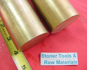 2 Pieces 2 C360 Brass Round Rod 4 Long Solid 2 00 Od H02 Lathe Bar Stock