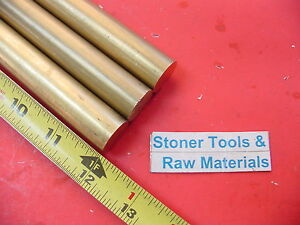 3 Pieces 7 8 C360 Brass Solid Round Rod 12 Long New Lathe Bar Stock 875 H02