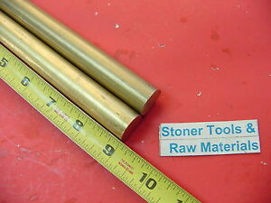 2 Pieces 7 8 C360 Brass Solid Round Rod 9 Long New Lathe Bar Stock 875 H02