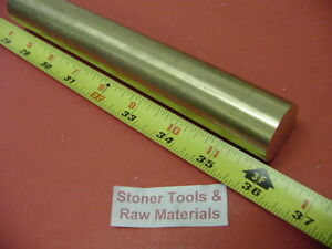 7 8 C360 Brass Solid Round Rod 36 Long New Lathe Bar Stock 875 1 2 Hard