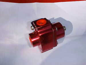 Billet Fuel Pressure Regulator 4 5 9psi red Anodized Aluminum holley rat Rod r56