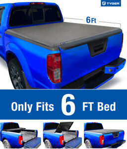 Fit 05 20 Nissan Frontier 09 14 Equator 6 Bed Tyger T3 Tri fold Tonneau Cover