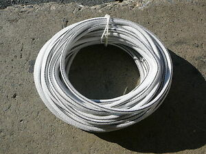 White black Nylon Coated Rubber Rope Shock Cord 3 8 X 83 Bungee Cord