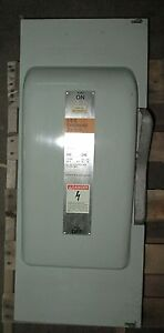 O Siemens 200 Amp Safety Switch Disconnect Jn424 240 Vac