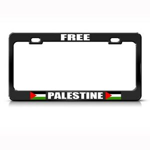 Free Palestine Palestinian Country Metal License Plate Frame Tag Holder