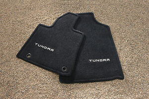 New 2012 2013 Toyota Tundra Oem Ful Set Of Black Color Floor Mats