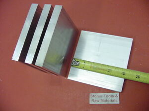 6 Pieces 1 2 X 4 Aluminum 6061 T6511 Solid Flat Bar 4 Long Plate Mill Stock