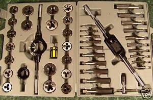 45pc Metric Tungsten Steel Tap And Die Set With Case Big Jumbo Heavy Duty New