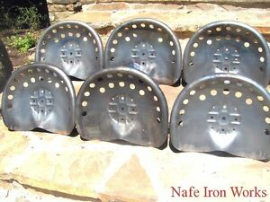 Six Steel Tractor Seats Metal Farm Or Bar Stool Tops Pan Style Large