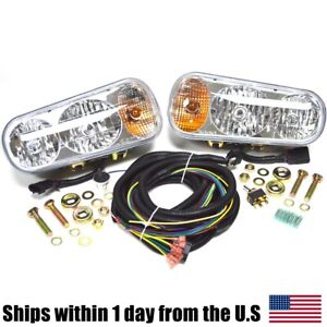 Snow Plow Halogen Headlamp Light Kit Fits Western Boss Meyer Fisher Curtis