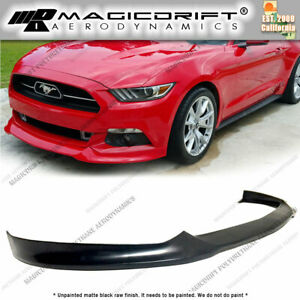 Fits 15 17 Ford Mustang V8 V6 St Street Style Front Bumper Chin Lip Spoiler Gt