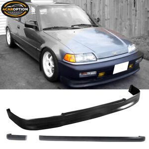 Fits 90 91 Honda Civic 3dr Cs Front Ikon Rear Bumper Lip Spoiler Bodykit