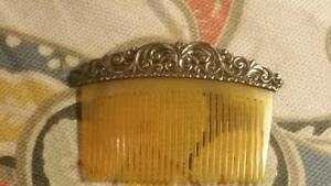 Antique Sterling Ornate Filigree Doll S Doll Toy Miniature Hair Comb