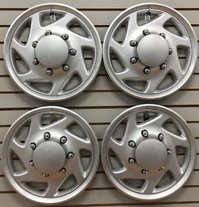 1995 2011 Ford Truck F250 F350 Van E250 E350 Wheelcover Hubcap Set New