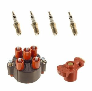 For Mercedes W201 190e 2 3 W 42 01 Dist Ignition Kit Cap Rotor Spark Plugs