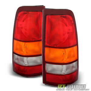1999 2002 Chevy Silverado 1999 2006 Gmc Sierra Replacement Tail Lights Lamps Set