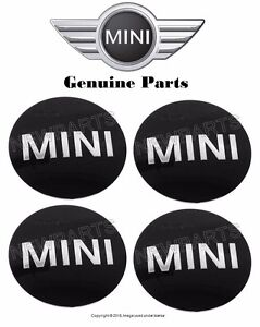 Mini Cooper Emblem For Wheel Center Caps X4 Oem Hubcap Logo Sticker Insignia