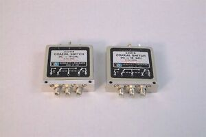 Lot Of 2 Hp Agilent 33311b Coaxial Switch Dc To 18 Ghz Used
