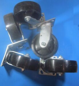 Colson Series 4 Roller Bearing 700 Lb Polyolefin Wheel Swivel Casters Lot