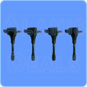 Premium High Performance Ignition Coil Set 4 For Infiniti Nissan 2007 2014