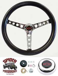 69 94 Impala Caprice Biscayne Steering Wheel Red Bowtie 14 1 2 Classic Chrome