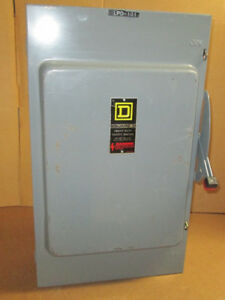 O Square D 200 Amp Safety Switch H364n 600 Vac New No Box