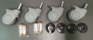 Nextel Casters Wheels Gray Locking New Lot Of 4