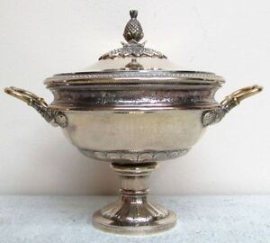 Classical Ancient Greece Style Spanish Sterling Silver Covered Candy Dish
