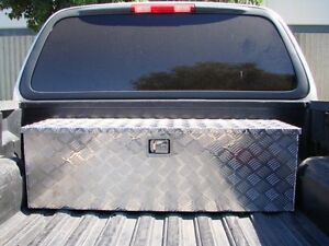 Aluminum Tool Box Tote Storage For Truck Pickup Bed Trailer Tongue 49 X15 Lock