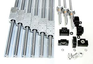 1000mm X 1000mm Cnc Router Ball Screws Kit 20mm Rails Xyz Travel 37 X 37 X 9
