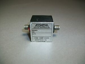 Aercom Industries 3794a Sma Rf Isolator Used