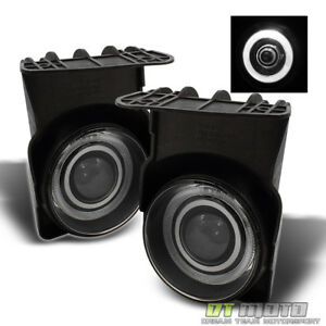 Smoked 03 06 Gmc Sierra Halo Projector Fog Lights Lamps Left Right 2003 2006 Set