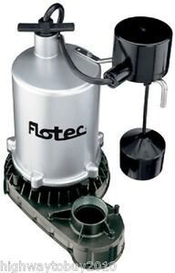 Pentair Fpzt7550 Flotec 1 Hp 6 660 Gph Zinc Sump Pump W Vertical Float Switch
