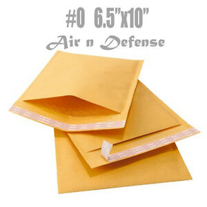 250 0 6 5x10 Kraft Bubble Mailers Padded Envelopes Shipping Bags Airndefense
