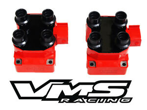 2 Vms Racing High Output Ignition Dis Coil Pack 96 98 Ford Mustang Gt Cobra 4 6