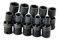 Sk 33351 10 Pc 6 Pt Swivel Metric Impact Socket Set