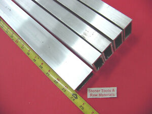 5 Pieces 1 x 2 x 1 8 Wall Aluminum Rectangle Tube 6063 T52 X 24 Long 125 W