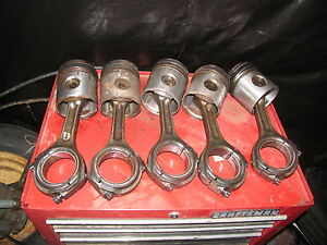 Ih International Farmall Tractor 5 Rods Pistons 966 1066 1086 And Others