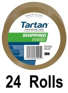 24 Rolls 3m Tartan 3710t 1 88 X 54 6 Yd Tan Packing Packaging Shipping Tape