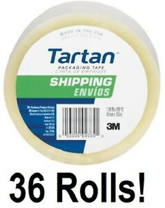 36 Ea 3m Tartan 3710 dc 1 88 X 54 6 Yd Clear Packing Packaging Shipping Tape