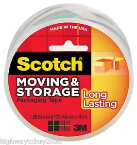 36 Rolls 3m Scotch 3650 1 88 X 54 6 Yd Clear Moving Storage Packing Tape