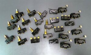 Micro Limit Switch Roller Hinge Lever Plunger Lot Of 26
